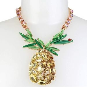 🆕Betsey Johnson Pineapple Statement Necklace